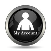 My account icon. Internet button on white background. . Stock Illustration