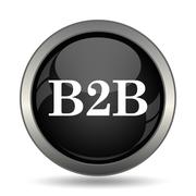 B2B icon. Internet button on white background. . Stock Illustration
