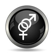 Sex icon. Internet button on white background. . - stock illustration