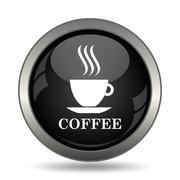 Coffee cup icon. Internet button on white background. . Stock Illustration