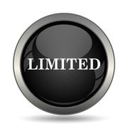 Limited icon. Internet button on white background. . - stock illustration