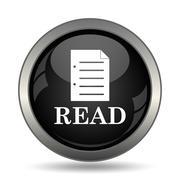 Read icon. Internet button on white background. . - stock illustration