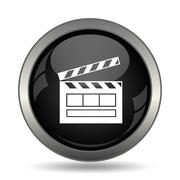 Movie icon. Internet button on white background. . Stock Illustration