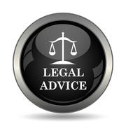 Legal advice icon. Internet button on white background. . Stock Illustration