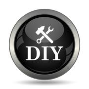 DIY icon. Internet button on white background. . - stock illustration