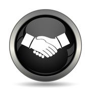 Agreement icon. Internet button on white background. . - stock illustration