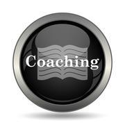 Coaching icon. Internet button on white background. . Stock Illustration