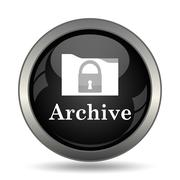 Archive icon. Internet button on white background. . - stock illustration