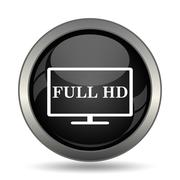 Full HD icon. Internet button on white background. . - stock illustration