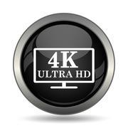 4K ultra HD icon. Internet button on white background. . - stock illustration