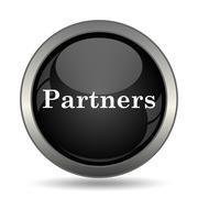 Partners icon. Internet button on white background. . - stock illustration