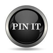 Pin it icon. Internet button on white background. . Stock Illustration
