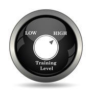 Training level icon. Internet button on white background. . Stock Illustration