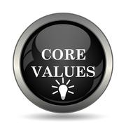 Core values icon. Internet button on white background. . - stock illustration