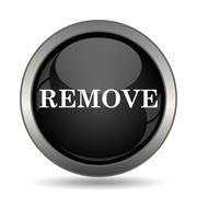 Remove icon. Internet button on white background. . - stock illustration