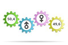 Background percentage men and women Stock Illustration