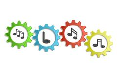 Background song with gears Stock Illustration