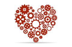 Heart created with gears Stock Illustration