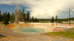 Hot Spring Firehole Lake Drive Yellowstone National Park Stock Footage