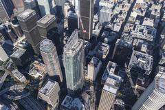 Los Angeles Wilshire Grand Center Aerial Stock Photos
