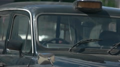 Front view of classic car. Stock Footage