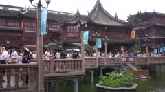 Tourists at Yu Garden, Shanghai Stock Footage