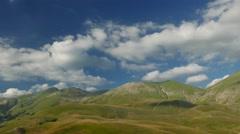 Castelluccio di Norcia Nuvole Tramonto Stock Footage