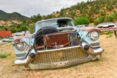 Rusting Car in Junk Yard Stock Photos