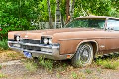 Rusting Car in Junk Yard Stock Photos