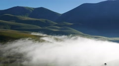 Castelluccio Norcia timelapse Morning clouds Stock Footage