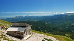 Panoramic view from Monte Vettore Stock Footage