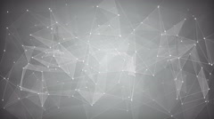 White network shape. Abstract loopable background 4k UHD (3840x2160) Stock Footage