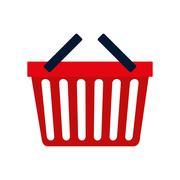shopping basket commerce consumerism icon. Vector graphic - stock illustration