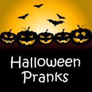 Halloween Pranks Shows Trick Or Treat And Autumn Stock Illustration