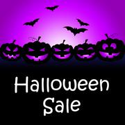 Halloween Sale Means Trick Or Treat And Celebration Stock Illustration
