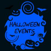Halloween Events Represents Trick Or Treat And Affair Stock Illustration