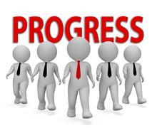 Progress Businessmen Shows Improvement Growth 3d Rendering Stock Illustration