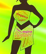 Lady Elegance Indicates Stylish Class And Chic Stock Illustration