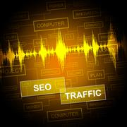 Seo Traffic Means Search Engine And Business - stock illustration