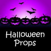 Halloween Props Shows Trick Or Treat And Accessories Stock Illustration