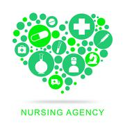Nursing Agency Representing Companies Agent And Bureau - stock illustration