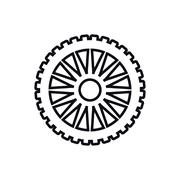 Cog gear machine part icon. Vector graphic Stock Illustration