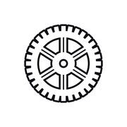 cog gear machine part icon. Vector graphic - stock illustration