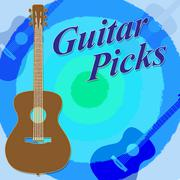Guitar Picks Meaning Music Rock And Guitarist Piirros