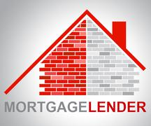 Mortgage Lender Means Home Loan And Borrow Piirros
