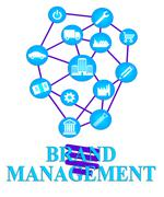 Brand Management Indicates Company Identity And Administration Stock Illustration