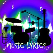 Music Lyrics Indicates Sound Track And Audio Stock Illustration