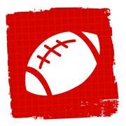 Rugby Ball Showing Sport Symbol And League Stock Illustration