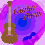 Guitar Parts Meaning Rock Hits And Diy - stock illustration