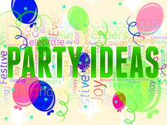 Party Ideas Indicates Decide Innovations And Celebrating - stock illustration